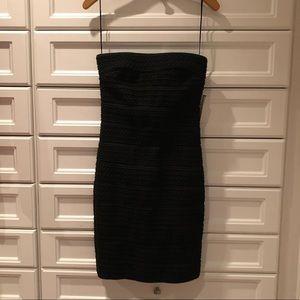 Black sewed detail cocktail dress
